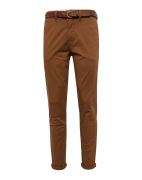JACK & JONES, Heren Chino 'JJICODY JJSPENCER WW DARK CAMEL STS', bruin