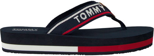 blauwe Tommy Hilfiger Slippers TOMMY JEANS MID BEACH SANDAL