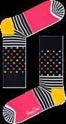 Happy Socks Chaussettes STRIPES & DOT SOCK en noir