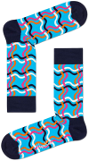 Happy Socks Chaussettes SQUIGGLY SOCK en noir