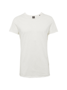 JACK & JONES, Heren Shirt 'JORBAS TEE SS U-NECK NOOS', offwhite