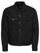 NEW LOOK, Heren Tussenjas 'BASIC WESTERN', black denim