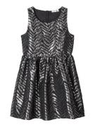 NAME IT Robe  noir / argent