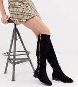ASOS DESIGN Wide Fit Blair knee high boots in black