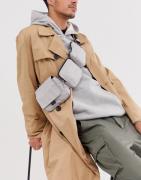 ASOS WHITE multi pocket cross body bag in silver
