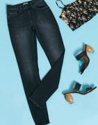 Only blush mid waist skinny jeans in black